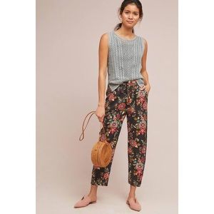 Anthropologie | Beaded Floral Joggers | XL